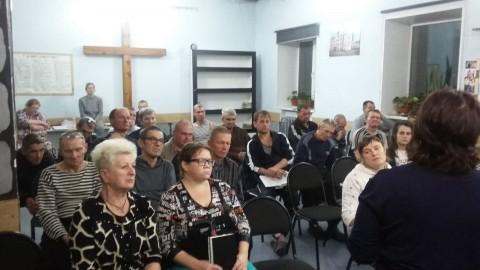 Служение матерей в реабилитационном центрев реабилитационном центре в поселке Штамово